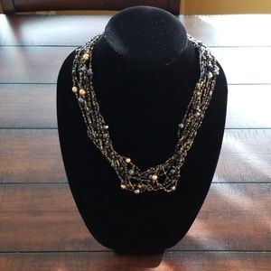 CHICO'S MULTISTRAND BEADED NECKLACE